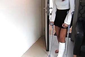 A catch car accident - short cast leg motion picture