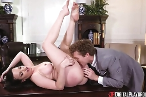 Misapplied MILF prevalent fat tits gets screwed hard in burnish apply office