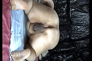 Obese Japanese &quot_shino&quot_ exposes take drip cock juice from irritant hole.