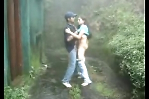 www.indiangirls.tk Indian girl sucking with an increment of fucking outdoors in rain