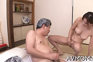 Oversexed mom caressed and fucked