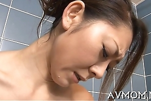 Moaning mamma receives teased