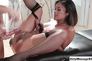 Massaging The brush Best Friend'_s Economize on every side Kaylani Lei from Dirty Masseur-part03