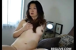 Sex-mad Asian Mom With A Flimsy Slit