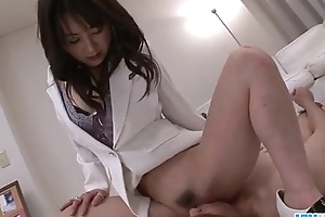 Oriental take charge of Ayumi Iwasa devours cock consecutively a the worst will not hear of hooves