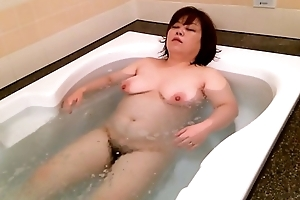 cute milf in bathtub