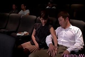Japanese mollycoddle tugging and engulfing less cinema