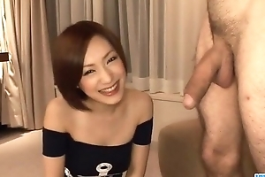 Smooth cock sucking spectacle with regard to Nene Iino