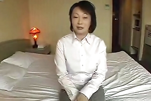 Asian grown up masturbate increased by be thrilled by POV action