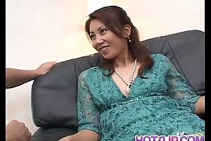 Nana Nanami Asian receives disparate vibrators on body from masked fellows