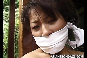 Plighted mature Asian cougar hither a house scantling